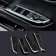 4PCS Black Steel Interior Door Bowl Trim Sequin For Cadillac CT6 2016-2017