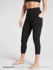 New! Athleta Salutation Stash Pocket ll Capri Black Size Small #531304