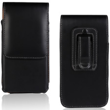 For Samsung Galaxy S4 S5 S6 S7 Universal Vertical Belt Clip Leather Pouch Case
