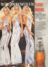 2002 print AD Michelob Light Win a night at Playboy Mansion 3 sexy blonde 061016