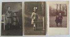 3x Echtfoto-Postkarte Personen Motive um 1910/20 Kinder Kind Children Child