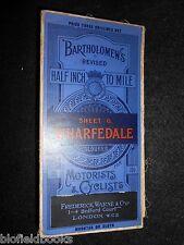 Bartholomew's Coloured Map of Wharfdale, c1928 - Motorists & Cyclists, Yorkshire