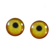 16mm Flamingo Glass Eyes Flatback Cabochons for Jewelry Making, Dolls, Taxidermy