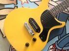 ANTORIA Guitar New Yorker Les Paul Junior Yellow & H/D Carry Bag +Free T/Shirt for sale