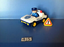 (45) playmobil 1.2.3. voiture police ref 6737