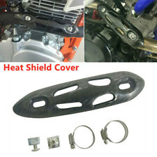 Motorcycle Bike Exhaust Muffler Pipe Mid Section Insulation Heat Shield Cover