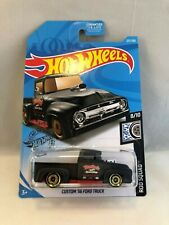 2019 Hot Wheels Die Cast Custom '56 Ford Truck in Black 227/250 Metal Parts