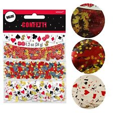 37g Casino Confetti Vegas Blackjack Poker Birthday Party Stag Table Decoration