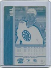 1/1 HAL GILL NHL ICE HOCKEY 2000-01 PACIFIC Printing Press Plate BOSTON BRUINS