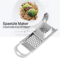 Kitchen Spaetzle Maker for Long Noodles, Grater with Slicer, Stainless Steel