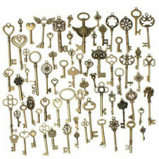 69PCS Large Antique Keys Old Look Brass Skeleton Vintage Jewellery Pendant Keys
