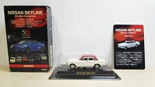 1/64 Kyosho NISSAN PRINCE SKYLINE GTB WHITE / RED diecast car model