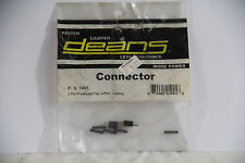 Deans Connector 2 Pin Polarized Pair w/PVC Tubing WSD1001 - NEW OLD STOCK/NOS!