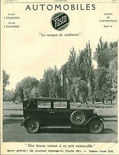Publicité ancienne voiture automobile FASTO 1926 issue de magazine