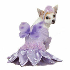 Dog Costume Closeout - XSMALL Purple Violet Sugar Plum Fairy Outfit Petal Skirt