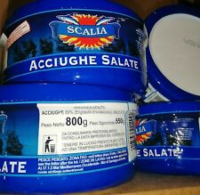 Sicilian Whole Salted Anchovies 12 tubes of 800g
