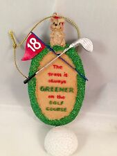 Golf Holiday Christmas Ornament The Grass Is Always Greener On The Golf Course