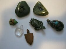 Lot of collectible turtle figurines fetish wood glass ceramic