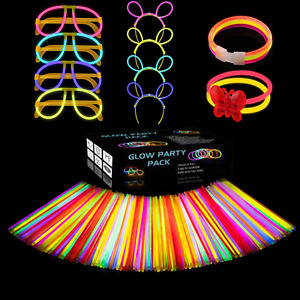 Glow Sticks Party Pack Bracelets Glasses Bunny Ears Ball Flowers and Necklace