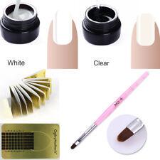 3Pcs Builder Nail Gel Extension UV Gel Polish Brush W/20Pcs Form Stickers Kit