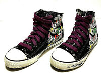 Don Ed Hardy Love Is A Canvas Hi-Top Shoes Women's Size 7 (W-139)