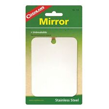 Coghlan's Stainless Steel Mirror Unbreakable Compact Survival Camping Mirror