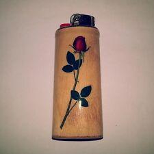Long Stemmed Rose Flowers Roses Bic Lighter Case Holder Sleeve Cover