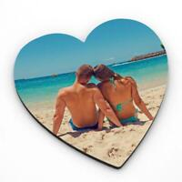 Personalised  Photo MDF Heart Fridge Magnet