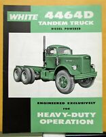 1962 White Truck Model 4464D Tandem Sales Folder & Specifications