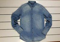 New Diesel Men's Shirt Size XL D-Carry Camicia Denim Long Sleeve Shirt