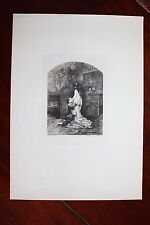 ✒ 1881 Théophile GAUTIER - EAU FORTE pour Mademoiselle de MAUPIN sur HOLLANDE