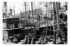 pt2268 - Fleetwood Trawlers landing fish , Lancashire - photograph 6x4