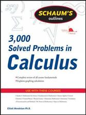 Schaum's 3,000 Solved Problems in Calculus by Elliott Mendelson (2009,...