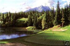 "Larry Dyke ""EIGHTH AT BANFF SPRINGS"" Golf-PGA-Art"