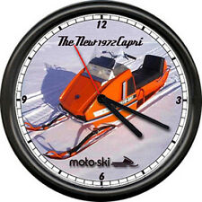 Moto Ski Capri 1972 Snowmobile Racing Retro Vintage Dealer Sign Wall Clock