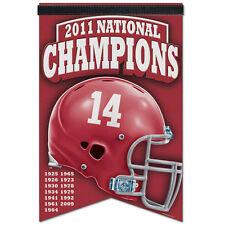 "Alabama Crimson Tide 2011 National Champions banner ""17 x 26"" NWT NCAA Roll Tide"