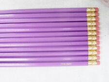 """12 Hexagon """"Lilac"""" Personalized Pencils"""