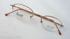 Sixty Unisex Brille Brillengestell Fassung schlicht  Lunettes Microflex braun M