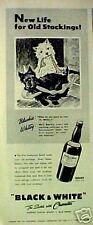 1943 Scottish Terrier Westie Dogs Black~White Scotch Whisky Blackie~Whitey Ad