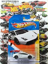 Hot Wheels 2011 #9 LAMBORGHINI GALLARDO LP 570-4 SUPERLEGGERA FLAT WHITE,INTL
