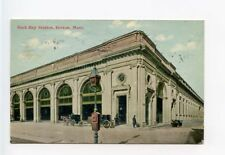 Boston MA Back Bay Railroad Train Depot Postcard