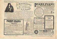 Stampa antica pubblicità RISTORATORE DEI CAPELLI ecc. 1884 Old antique print