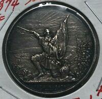 1874 Switzerland 5 Francs Shooting Medal