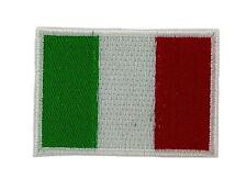 Bandiera patch toppe toppa ricamata italia 7x5cm backpack termoadesivo