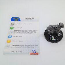 Heroclix Crisis set Lead and Tin #034 Rare figure w/card!