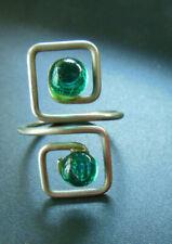 Jolie bague 1960 vintage  turquoise métal - ajustable