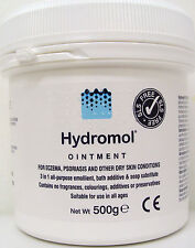Hydromol Ointment, 500g tub, for eczema, psoriasis & dry skin conditions