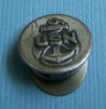 Vintage United States Navy military cap hat sterling charm