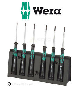 Wera TORX TRX Kraftform Micro Precision Screwdriver Set T7-T20 + Rack 2067/6