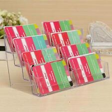 8 Pocket Acrylic Desktop Business ID Card Holder Display Stand Desk Table Shelf